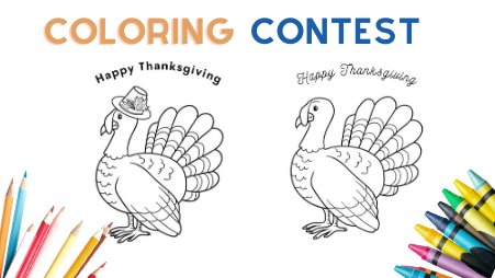 Annual Turkey Coloring Contest Mount Juliet